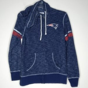 Majestic New England Patriots Full Zip Hoodie S